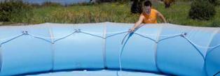 Конструкция надувного бассейна