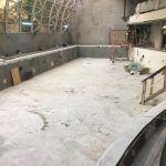 Начаты работы по оштукатуриванию большого бассейна