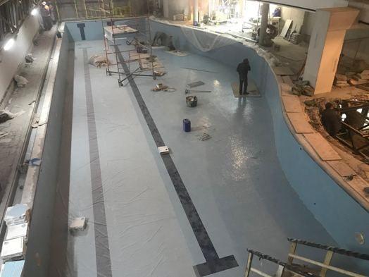 Облицовочные работы бассейна в фитнес клубе на Б. Кисловском пер., г. Москва