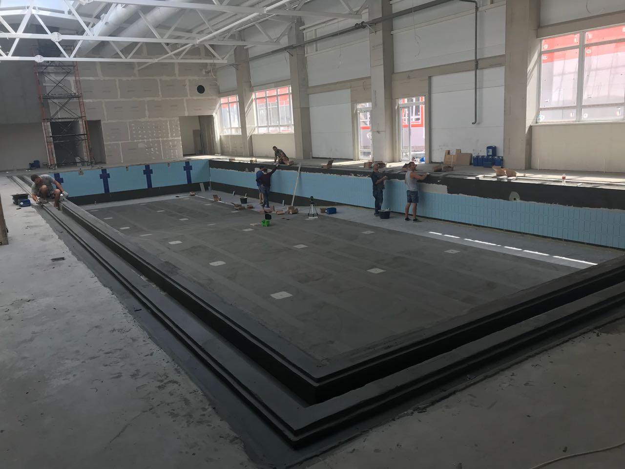Работы по бассейну 25 м