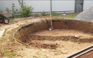 Подготовка места для каркасного бассейна